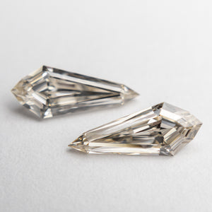1.44cttw 10.82x4.39x2.77mm VVS Champagne Kite Step Cut Matching Pair 18876-01 - Yuliya Chorna Jewellery