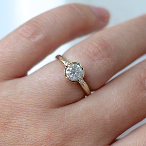 .75ct Around The World Salt & Pepper Diamond Ring In Yellow Gold - Yuliya Chorna Jewellery