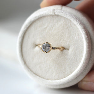 0.75ct Around The World Round Diamond Ring - Ready To Ship - Yuliya Chorna Jewellery