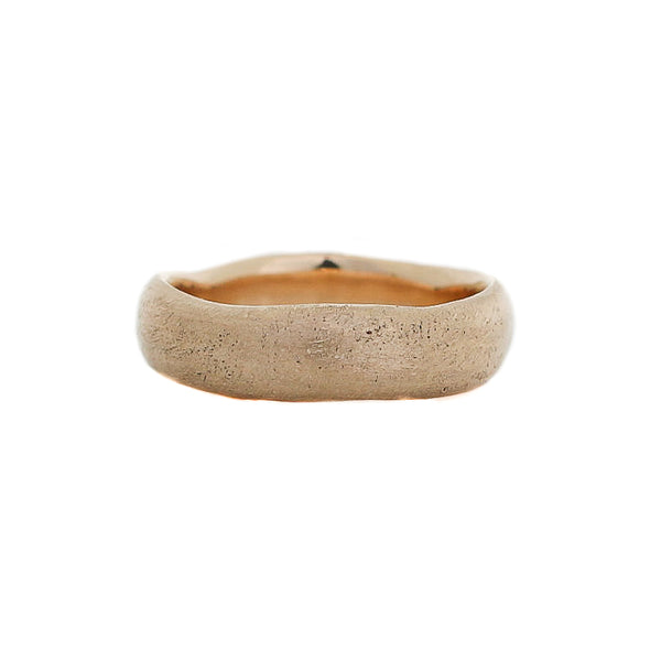 Beach Textured Wide Band in Yellow Gold - Ready To Ship - Yuliya Chorna Jewellery