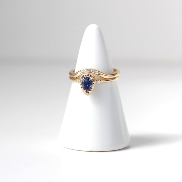 Blue Sapphire Stacking Ring - Yuliya Chorna Jewellery