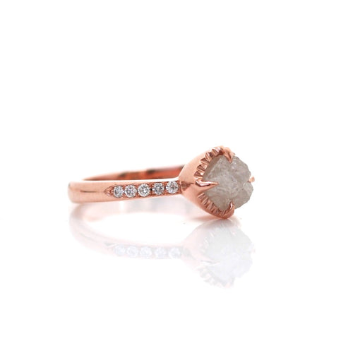 Canadian Raw Diamond Solitaire - Yuliya Chorna Jewellery