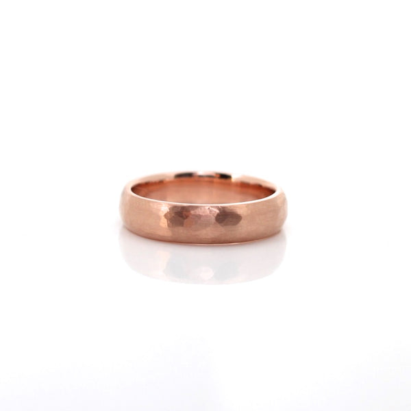 Classic Hammered Wide Band - Yuliya Chorna Jewellery