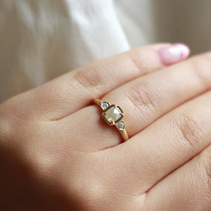 Champagne Cushion Diamond Ring - Yuliya Chorna Jewellery