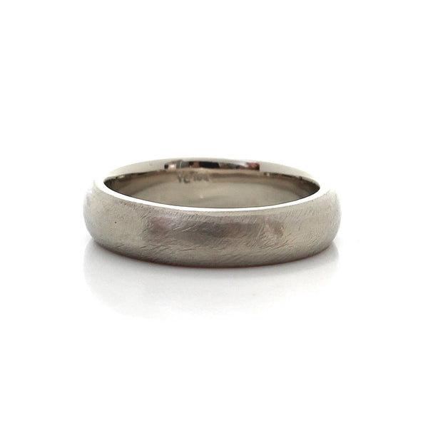 Classic Textured Wide Band in White Gold - Ready To Ship - Yuliya Chorna Jewellery