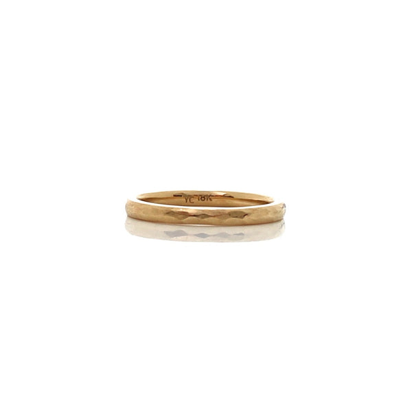classic hammered women's wedding band