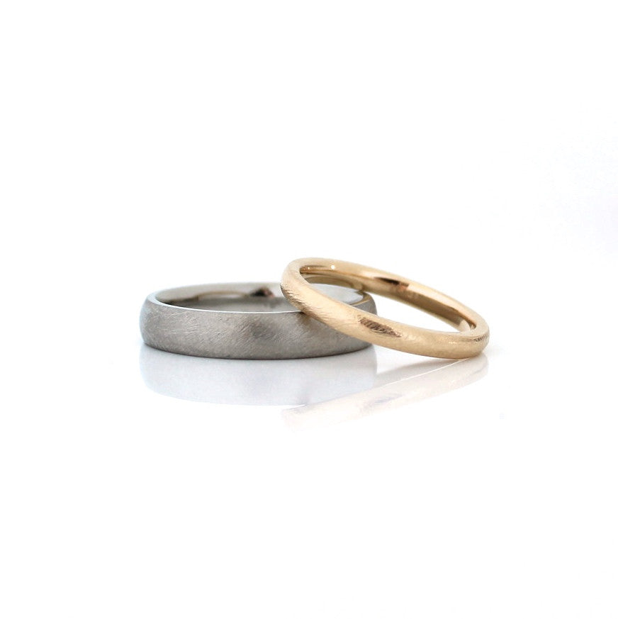 Classic Textured Thin Band - Yuliya Chorna Jewellery