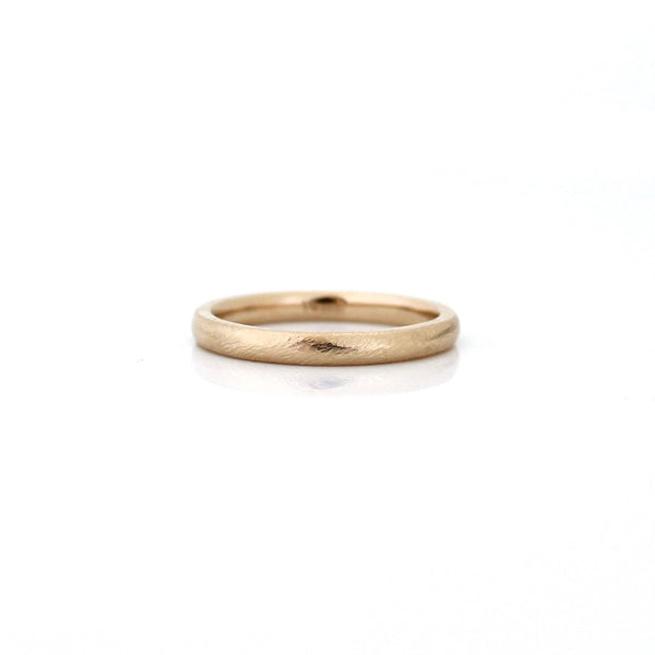 Classic Textured Thin Band - Ready To Ship - Yuliya Chorna Jewellery