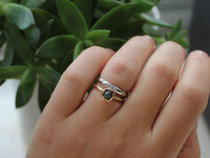 Simple Diamond Touch Ring - Yuliya Chorna Jewellery