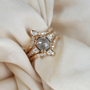 Cushion Double Claw Ring - Yuliya Chorna Jewellery