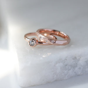 Faceted Diamond Band in Rose Gold - ready to ship - Yuliya Chorna Jewellery