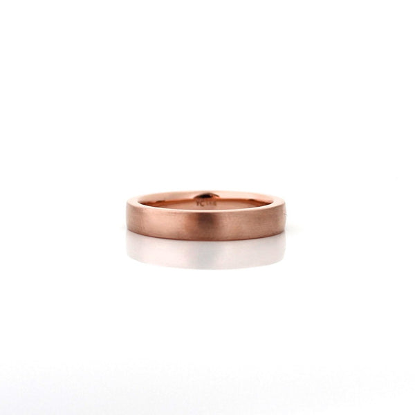 Flat Brushed Band - Yuliya Chorna Jewellery