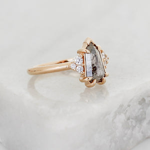 1.69ct Glacier Shield Diamond Ring - ready to ship - Yuliya Chorna Jewellery
