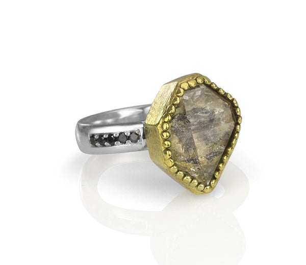 Raw Herkimer Cocktail Ring