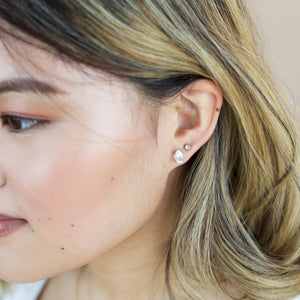 Herkimer Yellow Gold Studs, Ready To Ship - Yuliya Chorna Jewellery
