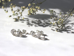 Herkimer Light Silver Studs - ready to ship - Yuliya Chorna Jewellery