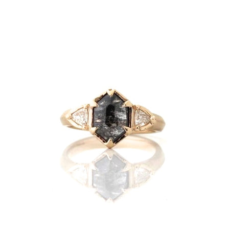 Pear Cognac Diamond Ring