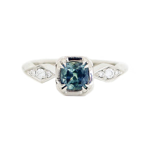 Cushion Montana Sapphire Claw Ring - Yuliya Chorna Jewellery