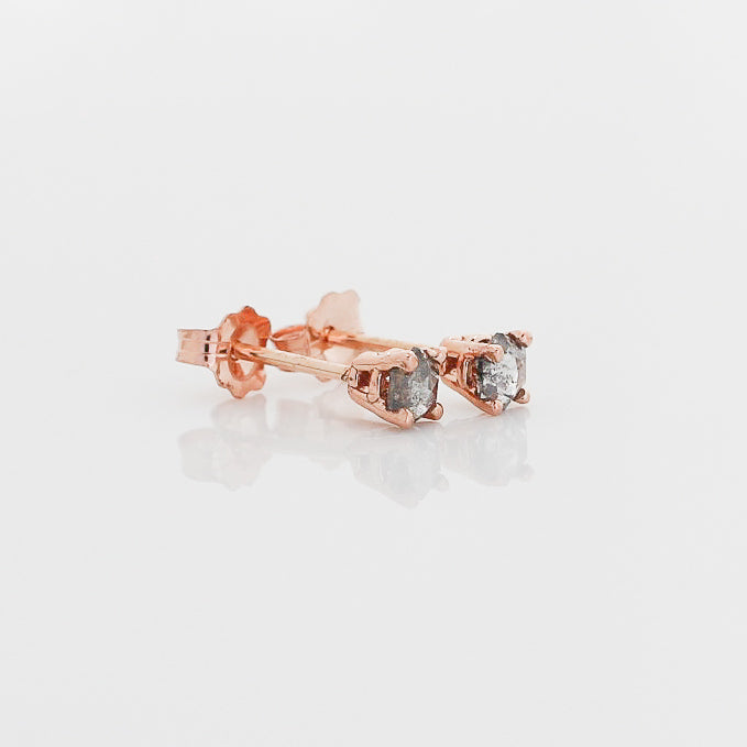Hexagon Rose Cut Diamond Studs - Yuliya Chorna Jewellery
