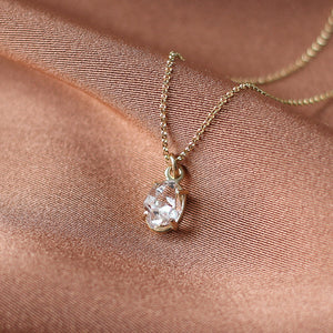 Herkimer Light Gold Necklace - Yuliya Chorna Jewellery