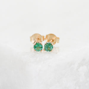 Small Gem Stud Earrings - Yuliya Chorna Jewellery