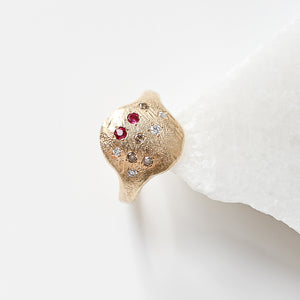 Signet Gem Ring - Yuliya Chorna Jewellery