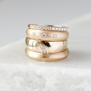 Organic Textured Edge Band - Yuliya Chorna Jewellery