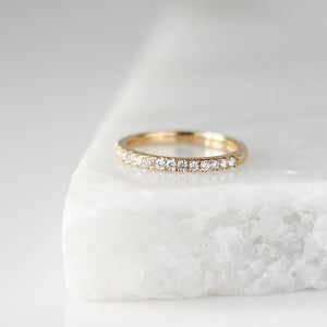 Half Eternity Diamond Pave Band - ready to ship - Yuliya Chorna Jewellery