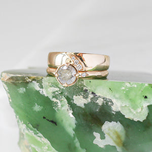 Shooting Star Diamond Wide Band - Ready To Ship - Yuliya Chorna Jewellery