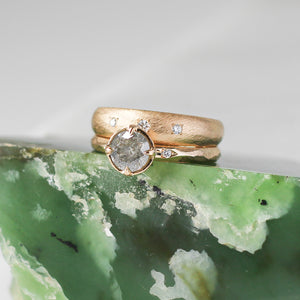 Domed Textured Diamond Band - Yuliya Chorna Jewellery