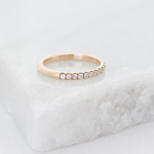 Straight Diamond Band - Yuliya Chorna Jewellery
