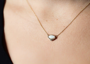 Marquise Eye Opal Necklace - made to order - Yuliya Chorna Jewellery