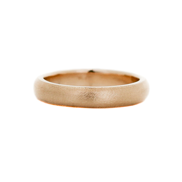 Classic Textured Wide Band in Yellow Gold- Ready To Ship - Yuliya Chorna Jewellery