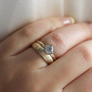 .75ct Around The World Diamond Ring In Yellow Gold - Ready To Ship - Yuliya Chorna Jewellery
