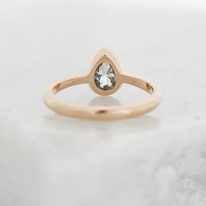 Zaria Pear Diamond Ring - Setting Only - Yuliya Chorna Jewellery