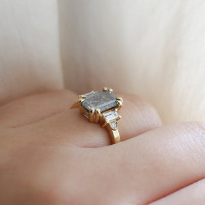 2.01ct Misceo Emerald Cut Diamond Ring in Yellow Gold - Yuliya Chorna Jewellery