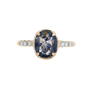 1.58ct Black Swan Oval Diamond Ring in Yellow Gold - Ready To Ship - Yuliya Chorna Jewellery