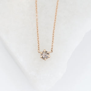 Salt & Pepper Rose Cut Diamond Necklace - ready to ship - Yuliya Chorna Jewellery