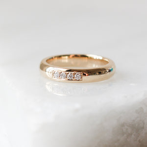 Smooth Medium Diamond Band - Yuliya Chorna Jewellery