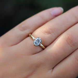 1.30ct Around The World Oval Diamond Ring - ready to ship - Yuliya Chorna Jewellery