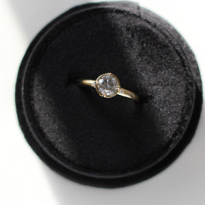 0.90ct Round Salt & Pepper Diamond Around The World Diamond Ring - ready to ship - Yuliya Chorna Jewellery