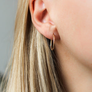 Hammered Thin Hoops - ready to ship - Yuliya Chorna Jewellery