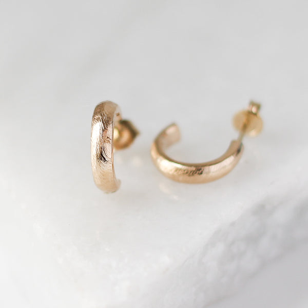 Textured Chunky Hoops - ready to ship - Yuliya Chorna Jewellery