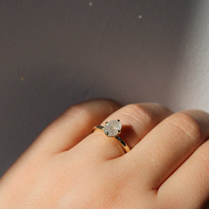 1.32ct Oval Icy Diamond Around The World Ring - ready to ship - Yuliya Chorna Jewellery