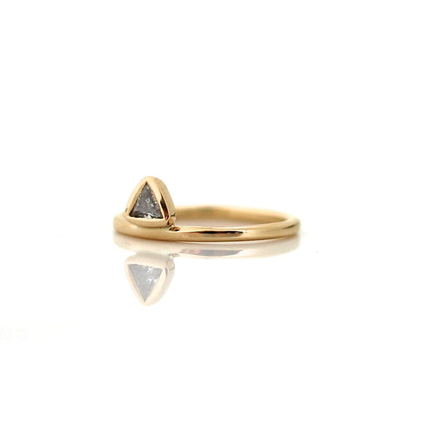 Trillion Skinny Diamond Ring - Yuliya Chorna Jewellery