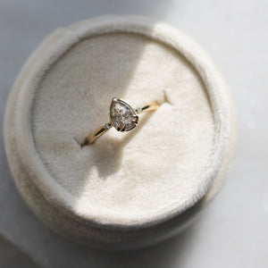 .73ct Zaria Salt & Pepper Diamond Ring In Yellow Gold - Ready To Ship - Yuliya Chorna Jewellery