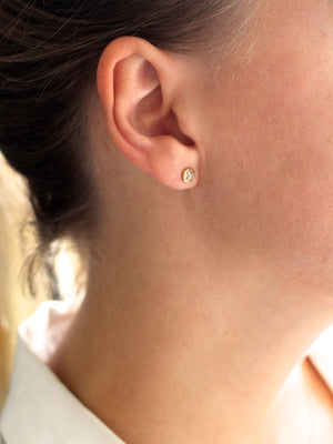 Faceted Droplet Diamond Studs - Yuliya Chorna Jewellery