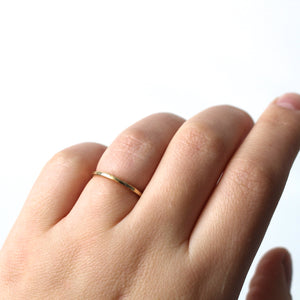 Hammered Thin Band - Yuliya Chorna Jewellery