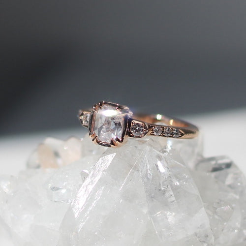 Ice Age Cushion Diamond Ring - Yuliya Chorna Jewellery