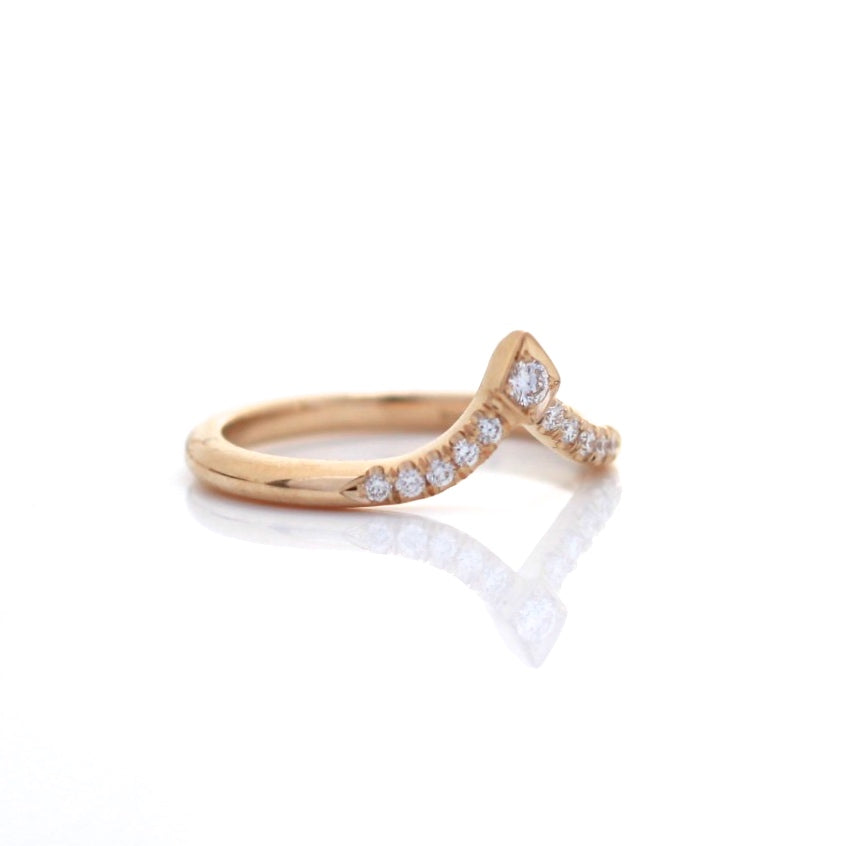 Kite Diamond Point Band - Yuliya Chorna Jewellery